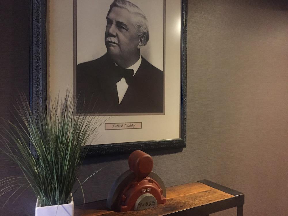 Portrait of past Ironworks employee at Ironworks Hotel in Beloit, Wisconsin