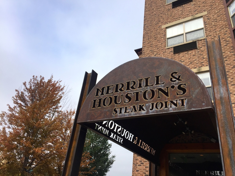 Exterior of Merrill & Houston's Steak Joint at the Ironworks Hotel in Beloit, Wisconsin