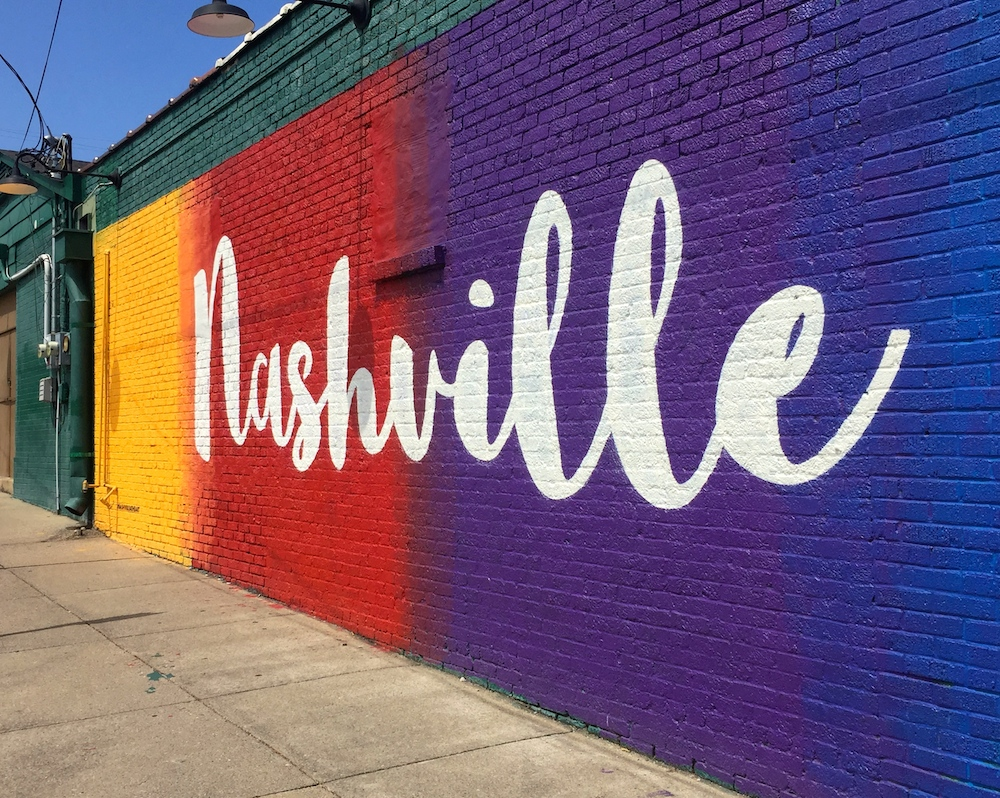 Rainbow mural in Nashville, Tennessee
