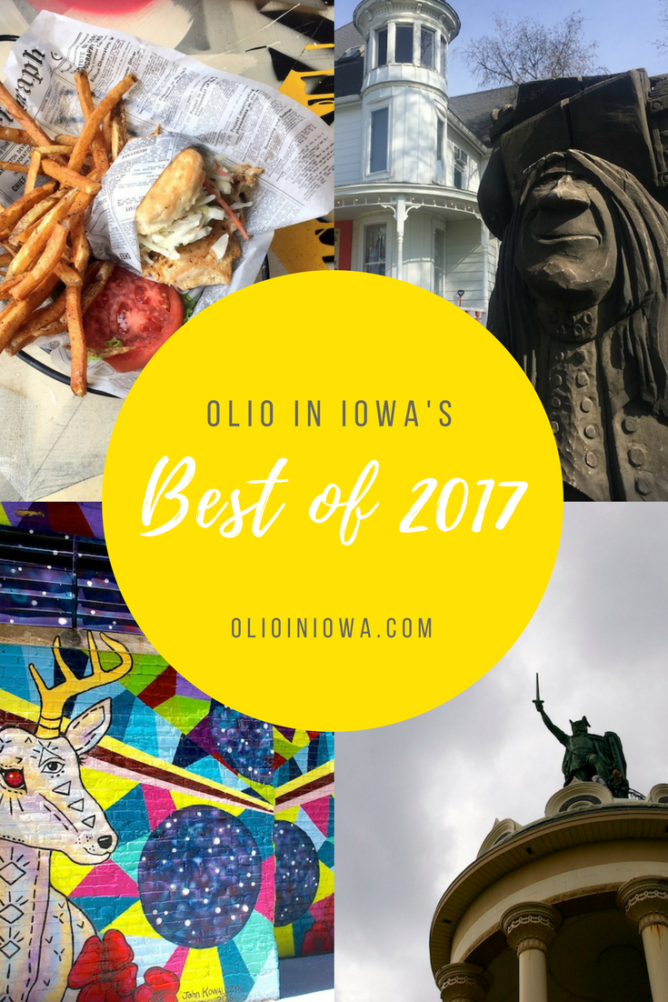 2017 held some pretty big adventures! Read the most popular posts from Olio in Iowa's last year.