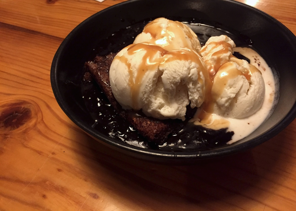 Hot Fudge Pudding at Prairie Street Brewing Company in Rockford, Illinois