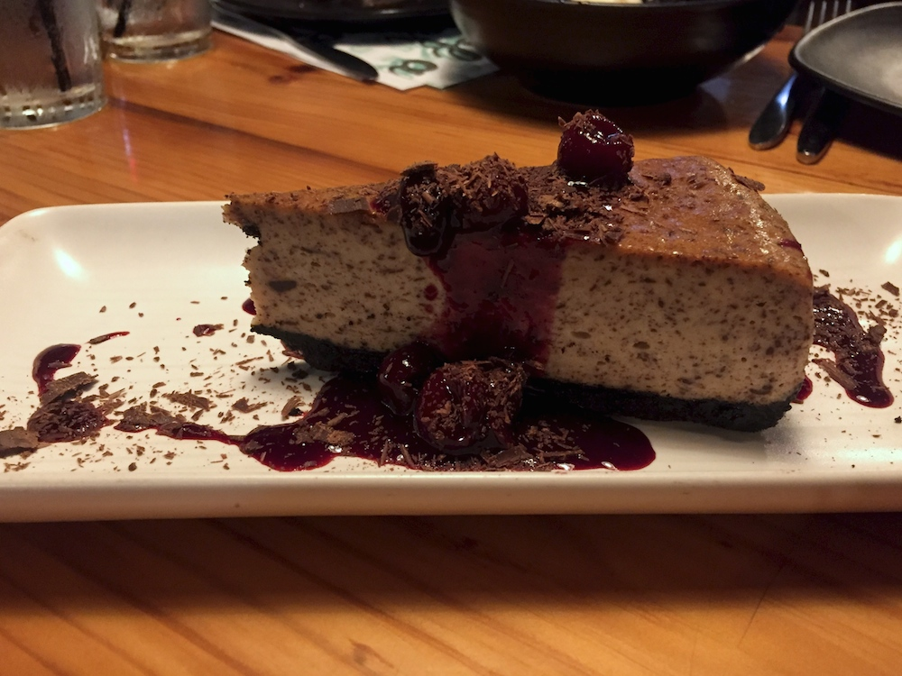 Black Forest Cheesecake at Prairie Street Brewing Company in Rockford, Illinois