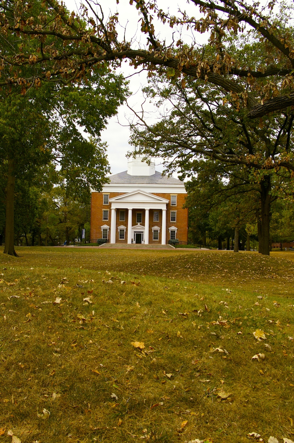 Autumn view of the effigy mounds at Beloit College in Beloit, Wisconsin