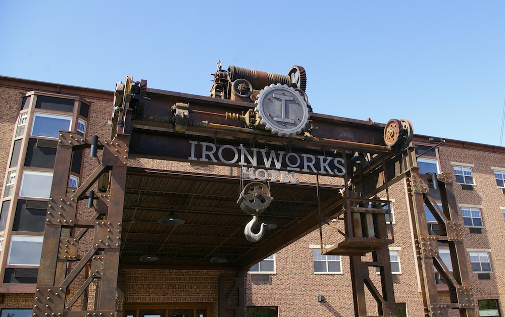 Exterior of the ironworks Hotel in Beloit, Wisconsin
