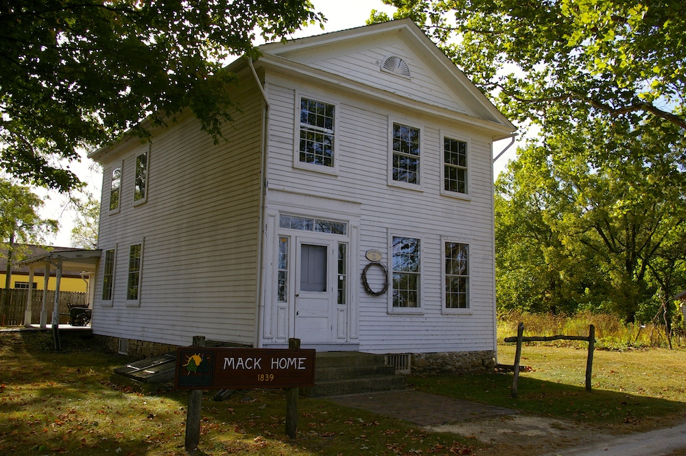 Historic Stephen Mack home in the Macktown historic district in Rockton, Illinois