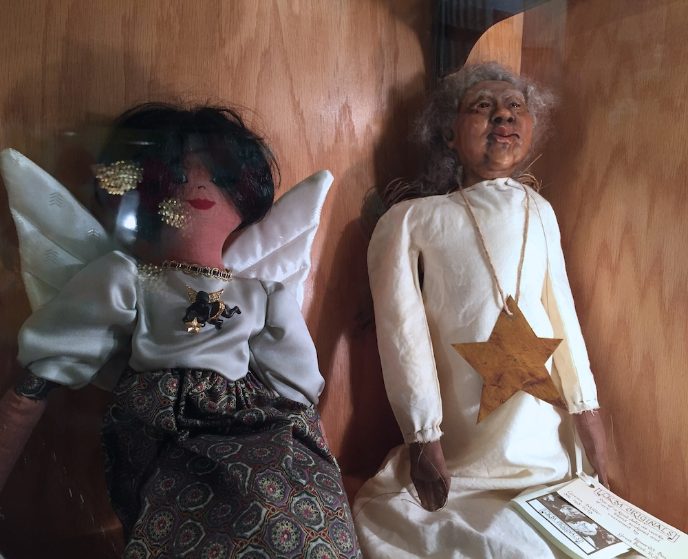 Black angel dolls donated to the Beloit Angel Museum by Oprah Winfrey