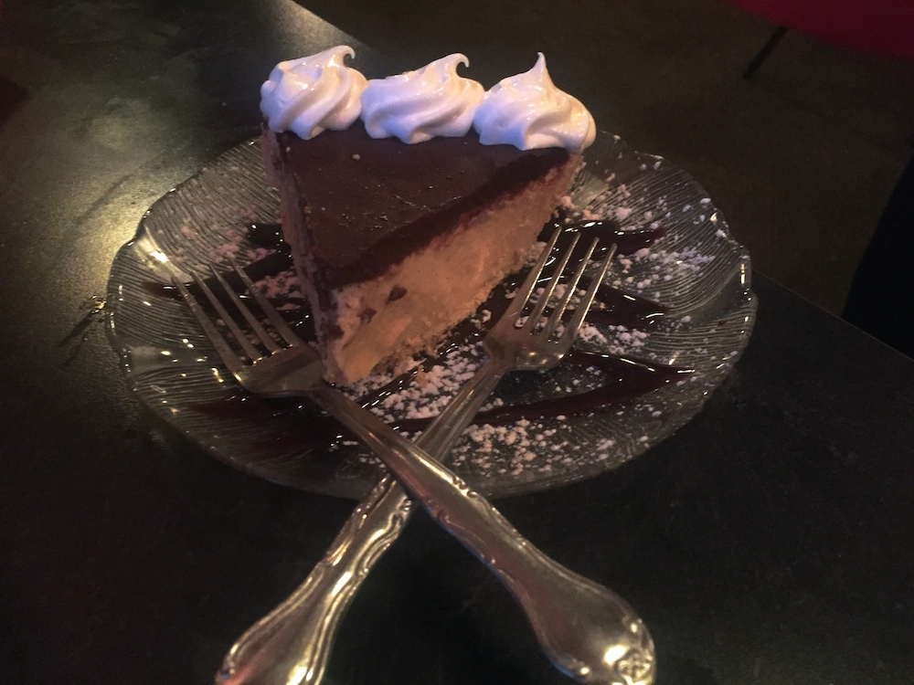 Chocolate peanut butter pie at the Buckhorn Supper Club in Milton, Wisconsin
