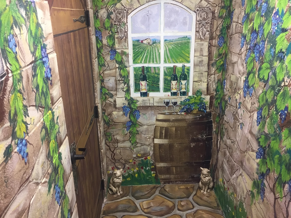 Basement winery mural at Northleaf Winery in Milton, Wisconsin