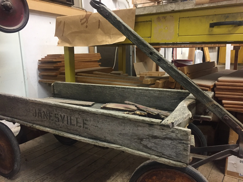 Original wagon from the Wisconsin Wagon Company in Janesville, Wisconsin
