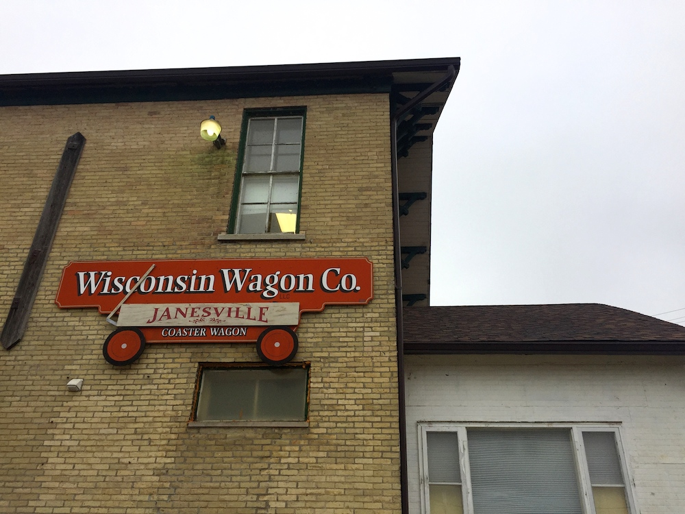 Exterior of the Wisconsin Wagon Company building in Janesville, Wisconsin