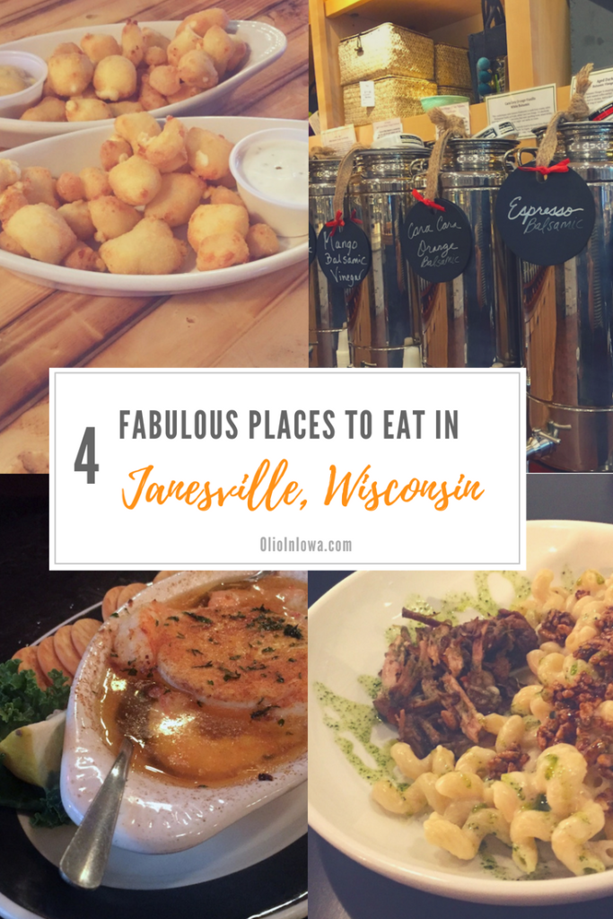 When visiting Wisconsin, there's nothing better than the classics—beer and cheese! Find four fabulous places to eat in Janesville, Wisconsin. #Wisconsin #FoodieFinds