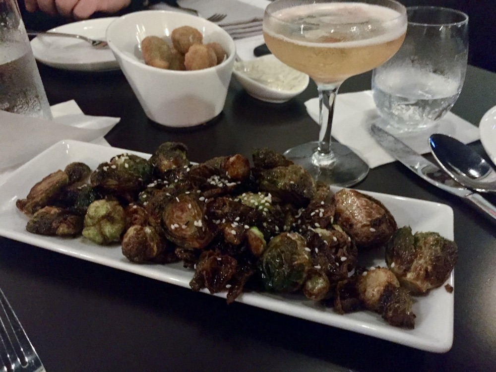 Balsamic glazed Brussels sprouts at Lark in Janesville, Wisconsin