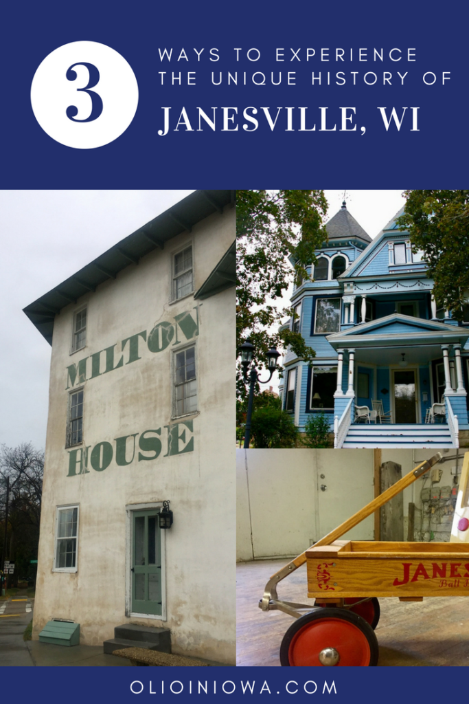Do you love local history? Discover three ways to experience the unique history of Janesville, Wisconsin the next time you're in the area. Plan a visit to the Milton House Museum, take a historic walking tour, or stop in to the Wisconsin Wagon Company. #Wisconsin #Janesville #history