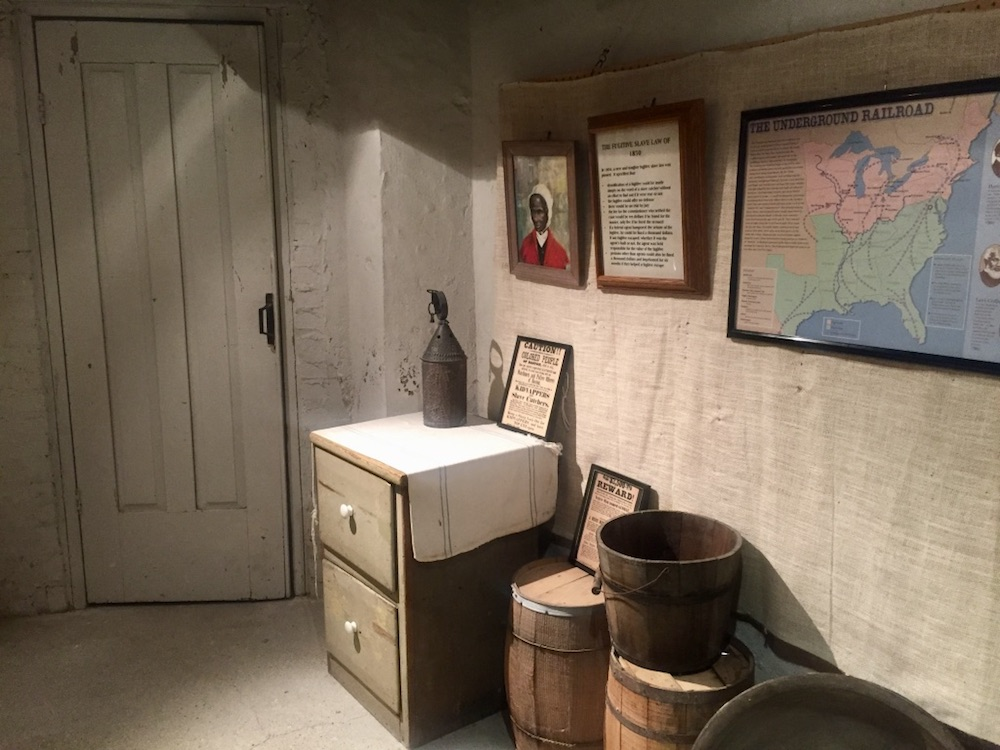 Secret underground cellar at the Milton House Museum near Janesville, Wisconsin