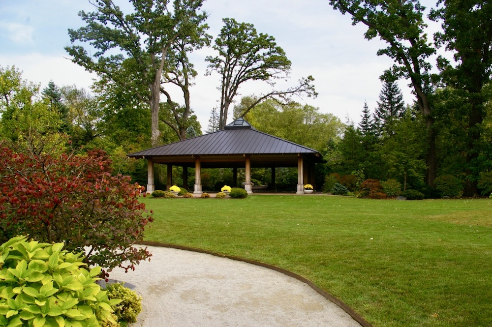 Open air pavilion at Anderson Japanese Gardens in Rockford, Illinois