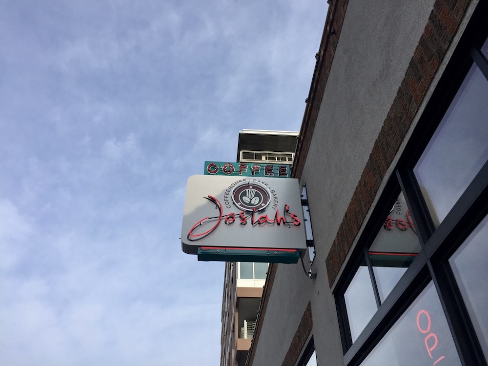 Neon sign at Josiah's Coffeehouse in Sioux Falls, South Dakota