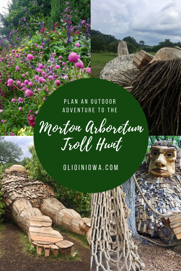 Plan a Morton Arboretum Troll Hunt of your own! Discover these unexpected sculptures in the beautifully wooded area of Lisle, Illinois. #MortonArboretum #Illinois
