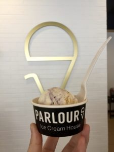 Cup of ice cream at Parlour Ice Cream in Sioux Falls, South Dakota