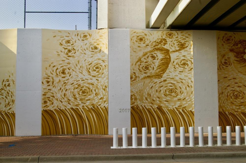 Van Gogh style cornfield mural in Wichita, Kansas