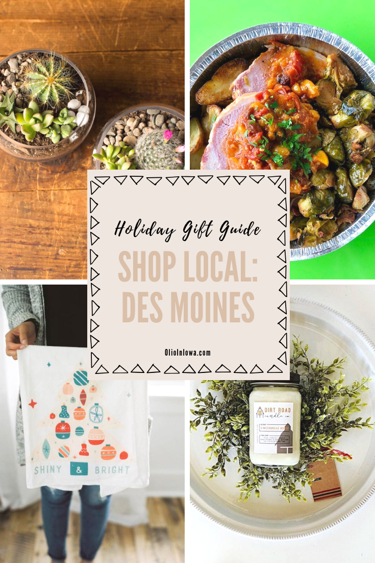 Does someone on your holiday list love to shop small? Discover gift ideas from Des Moines and Iowa small business owners that will be perfect presents for anyone on your holiday list! #DesMoines #Iowa #GiftGuide