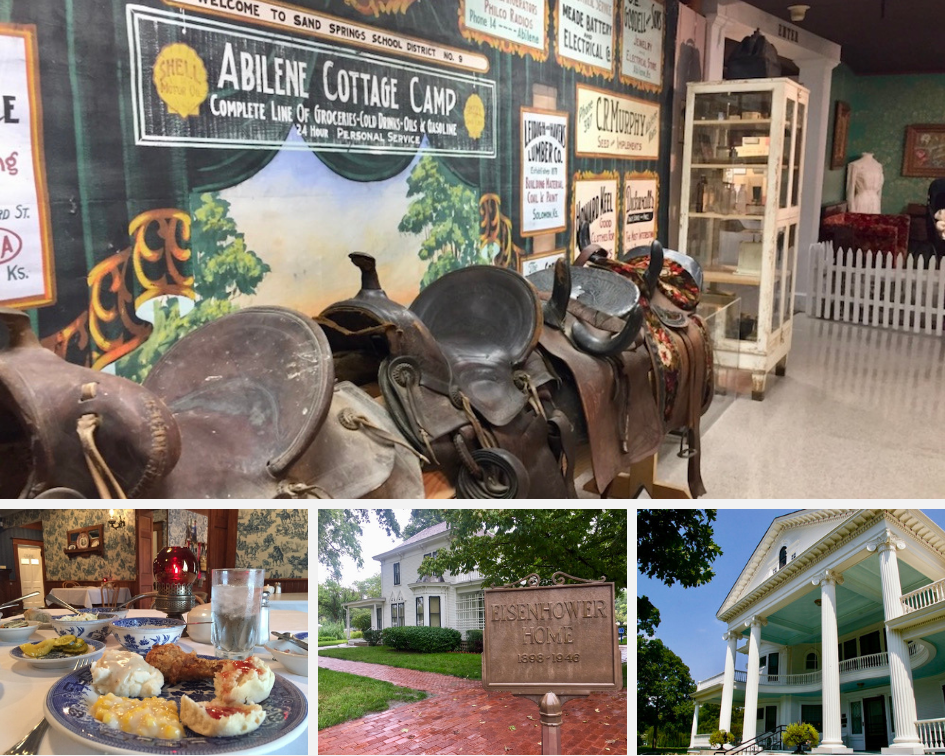 There are tons of exciting ways to experience the history of Abilene, Kansas! From the Eisenhower Presidential Library and Museum to the fried chicken at the Brookville Hotel, there's something in this small town everyone will enjoy. #Kansas #Abilene #TravelGuide