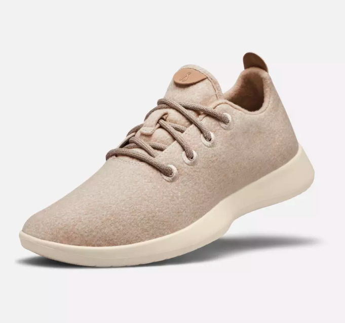 Cream colored Allbirds women's runners