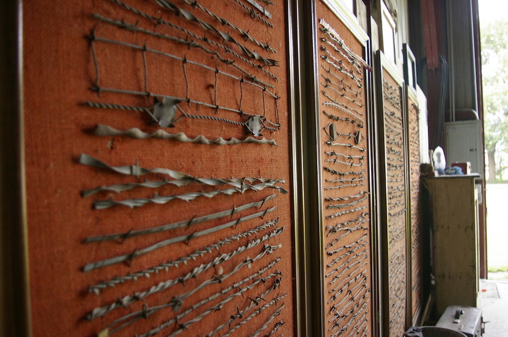 Barbed wire display at the Dickinson County Heritage Center in Abilene, Kansas
