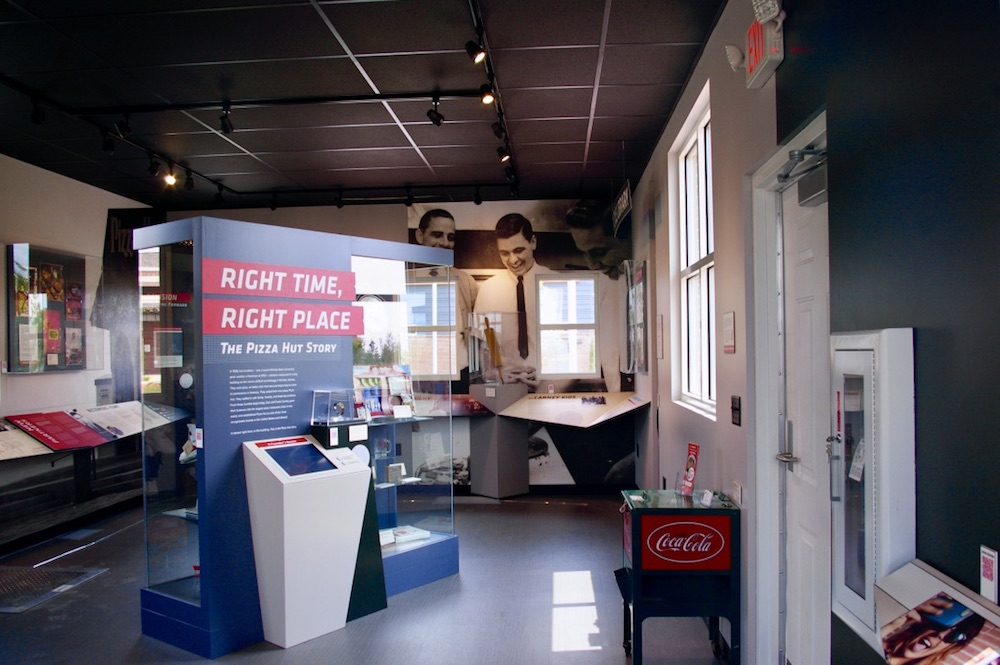 Exhibit inside the Pizza Hut Museum on the Wichita State University campus in Wichita, Kansas