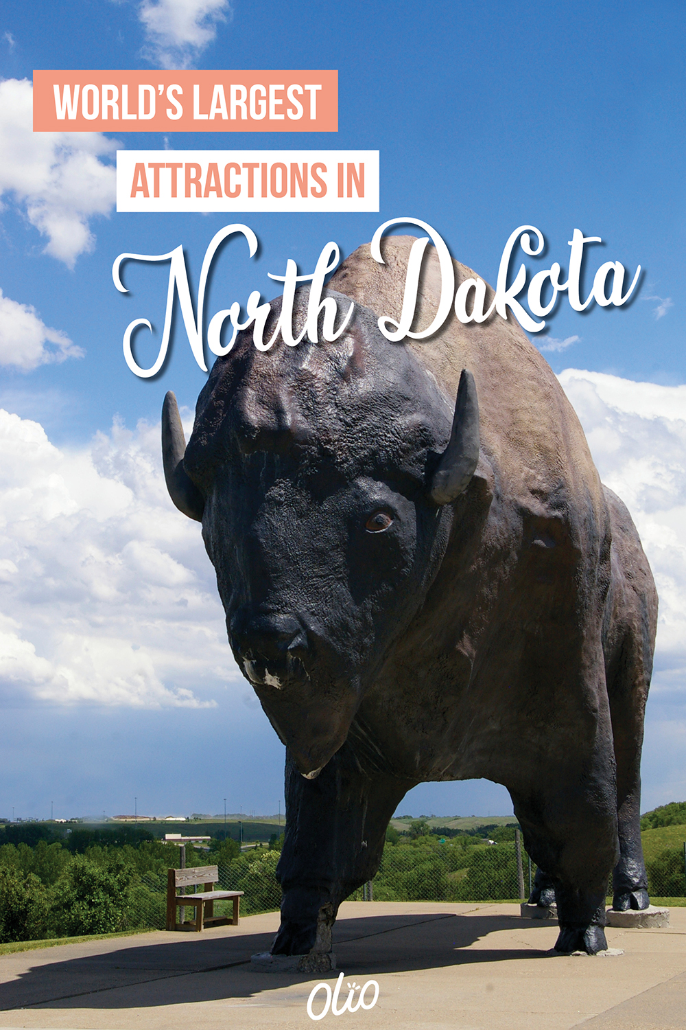 "Plan a North Dakota road trip that's larger than life! There's tons of things to do in North Dakota, including stops at many of these large roadside attractions. Pose for funny photos at these ""world's largest"" things and cross these towering statues off your bucket list! #NorthDakota #WorldsLargest"
