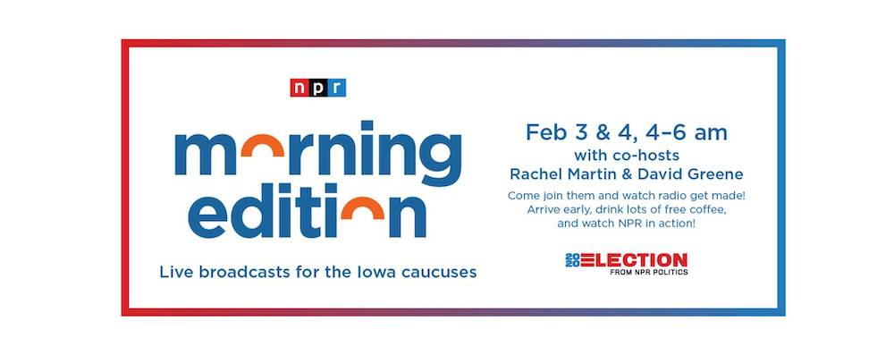 Graphic for NPR Morning Edition in Des Moines in February 2020