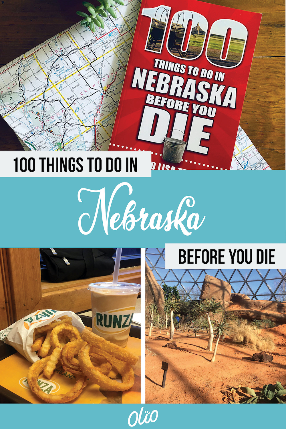 Have you visited Nebraska? Authors Tim and Lisa Trudell compile the 100 Things to Do in Nebraska Before You Die in this book, which includes food, local history, roadside oddities and more. Start planning your Nebraska road trip (including a stop at Runza) today! #Nebraska