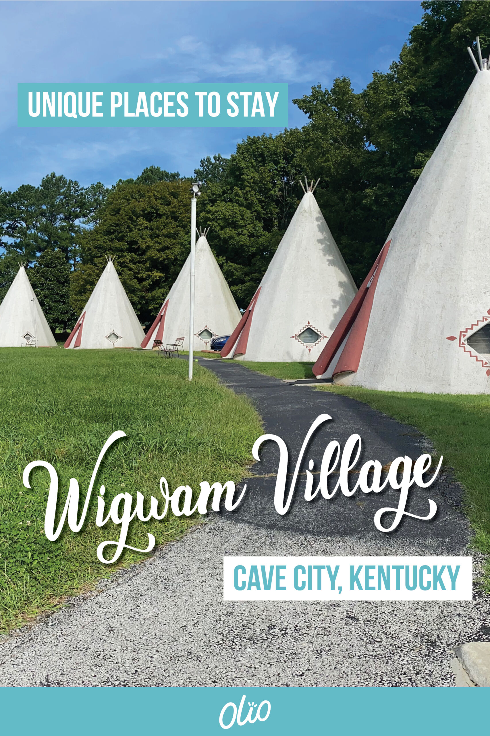 Spend a night in a piece of kitschy roadside history when you stay at the Wigwam Village Inn #2 in Cave City, Kentucky! These historic teepee-shaped rooms were built in the 1930s and still welcome guests year-round. #Kentucky #Americana #RoadsideAmerica