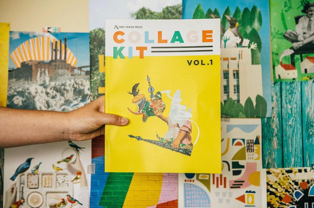 Hand holding Collage Kit Magazine Vol. 1