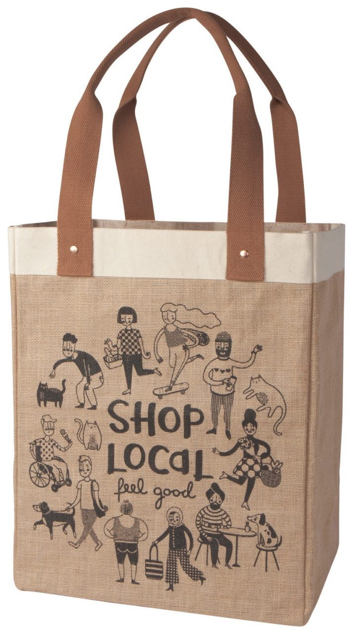 Canvas Shop Local tote from Paper Moon in McGregor, Iowa