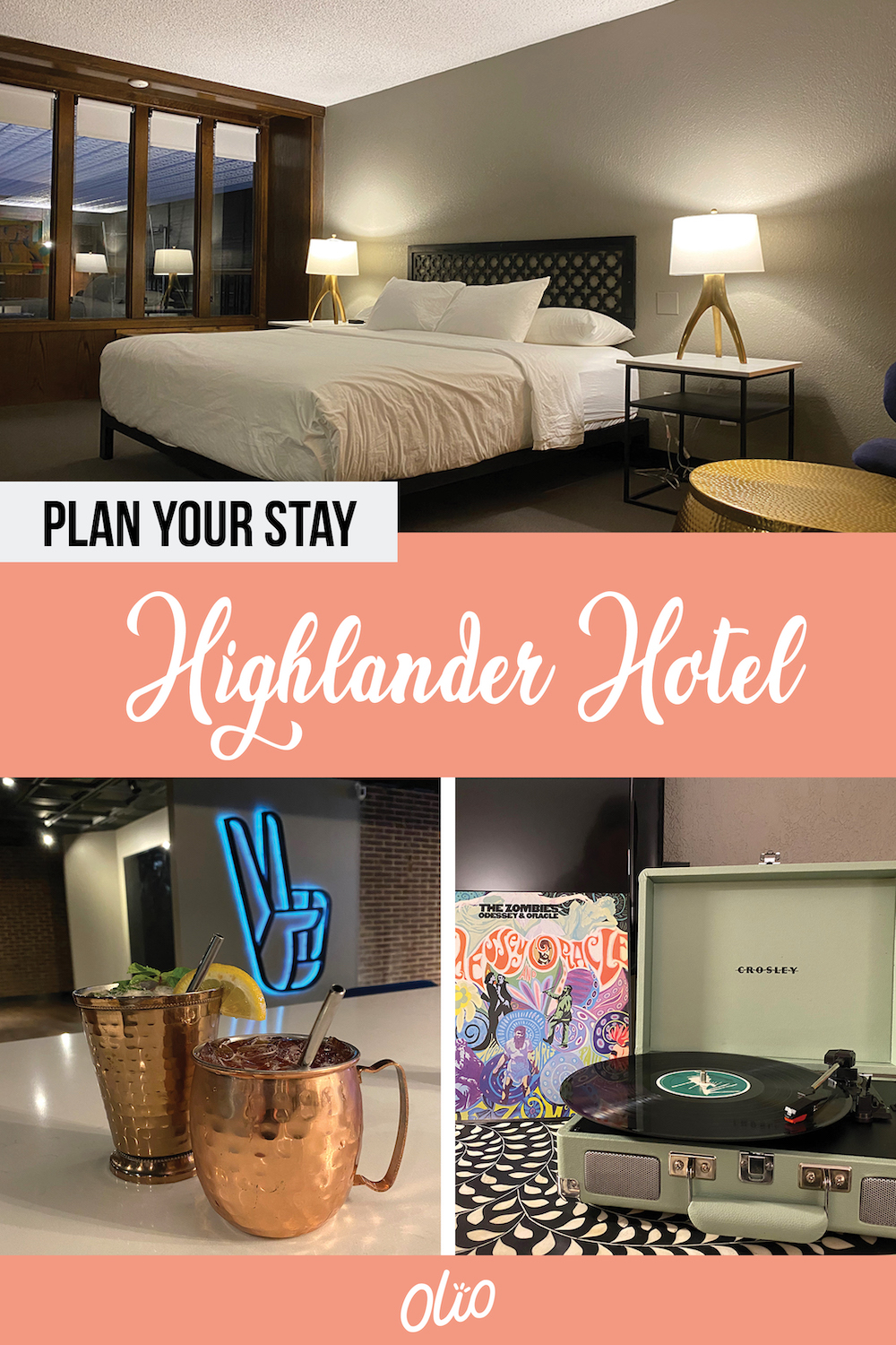 Whether you're planning a staycation or just passing through, The Highlander Hotel in Iowa City is the perfect place to stay! This former Iowa supper club is fully restored with a groovy '70s vibe complete with spacious bar, incredible indoor pool, in-room record players and more. #Iowa #IowaCity #boutiquehotel