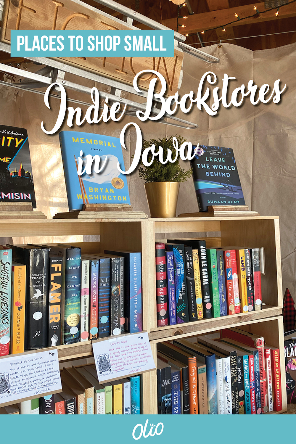 Looking for your next read? Shop small by support one of these independent bookstores in Iowa! These cozy shops have books for readers of all ages and can be found across the Hawkeye state. #Iowa #Midwest