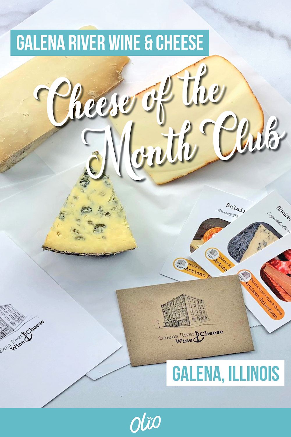 Whether you're shopping for a Midwest gift or just want to treat yourself, a Cheese of the Month Club box from Galena River Wine & Cheese is the perfect option! Enjoy hand selected cheeses from this shop in Galena, Illinois and support a small business in the process. #Midwest #Illinois #foodie