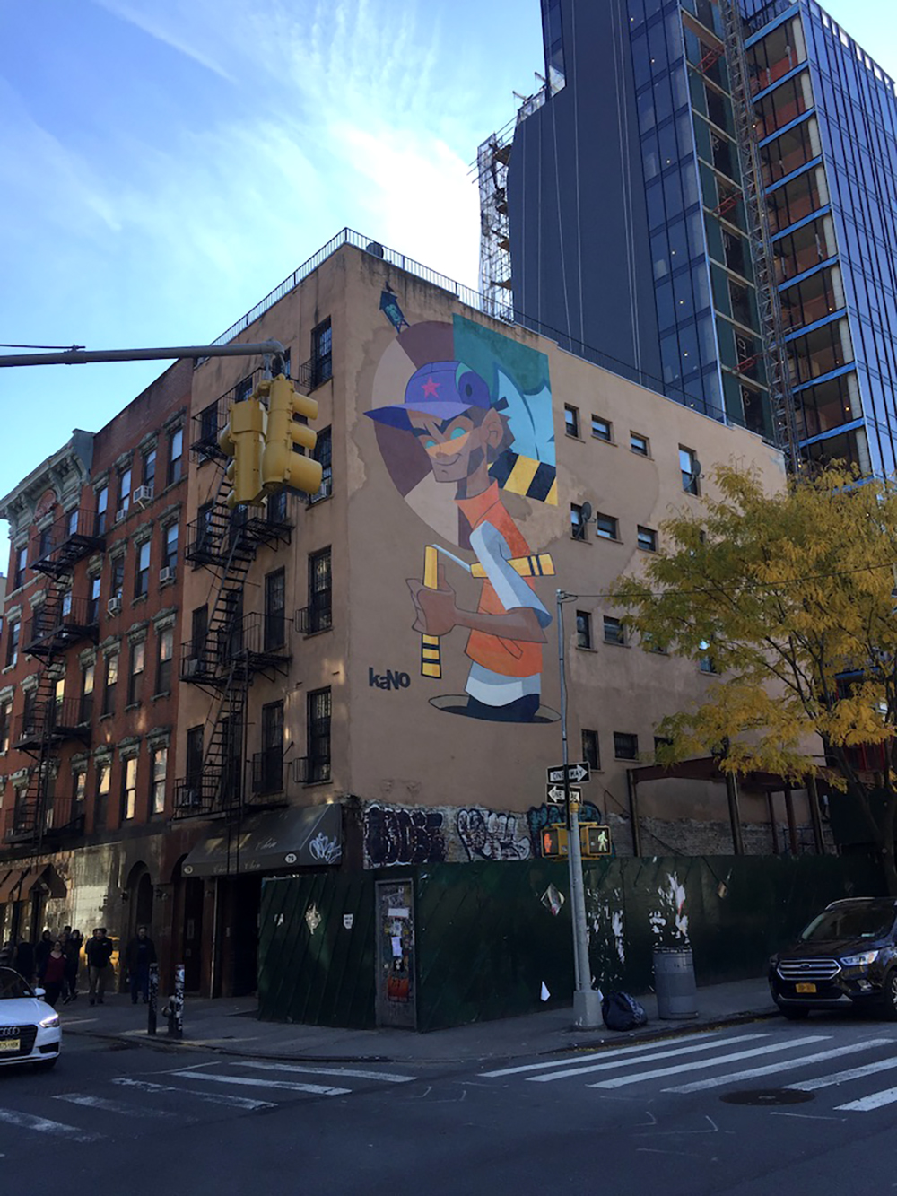 Mural on the side of a building in New York City