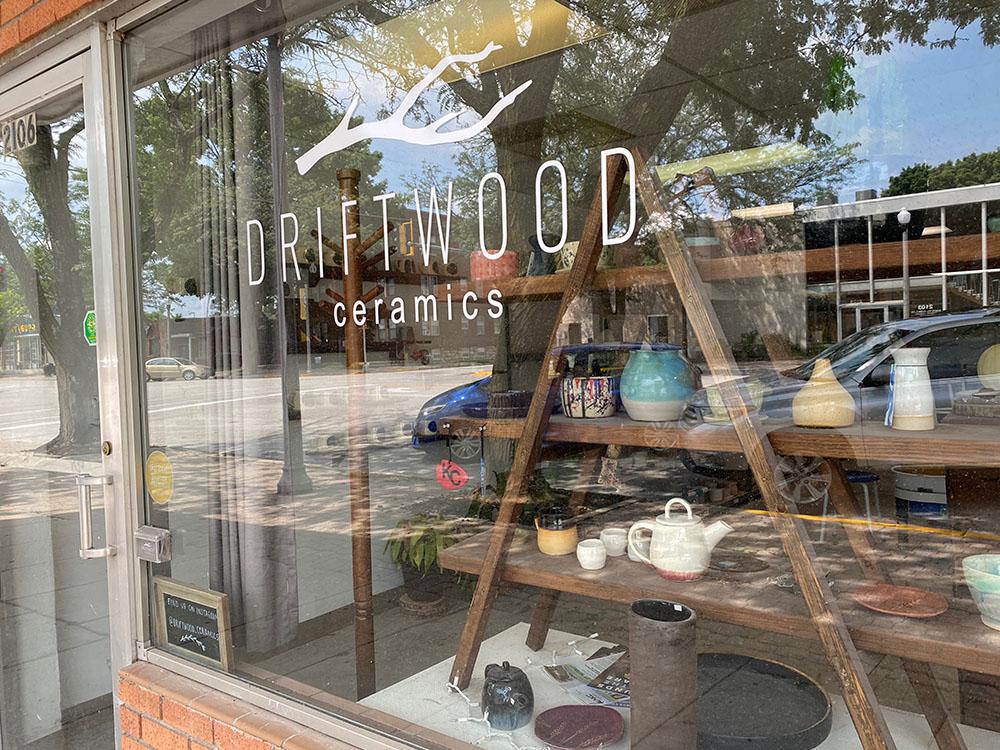 Exterior of Driftwood Ceramics in North Kansas City, Kansas