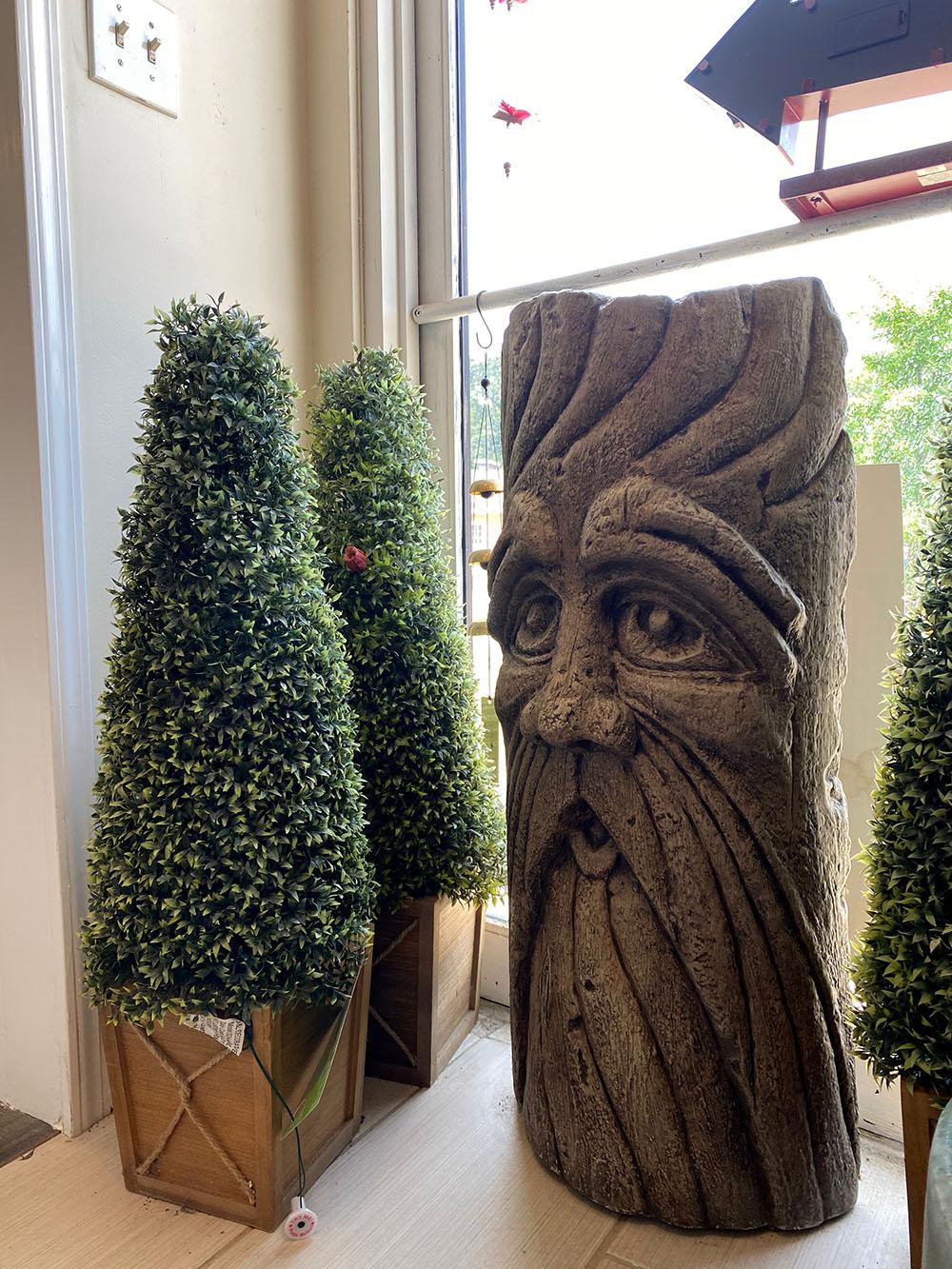 Tree statue at Gemini in Merriam, Kansas