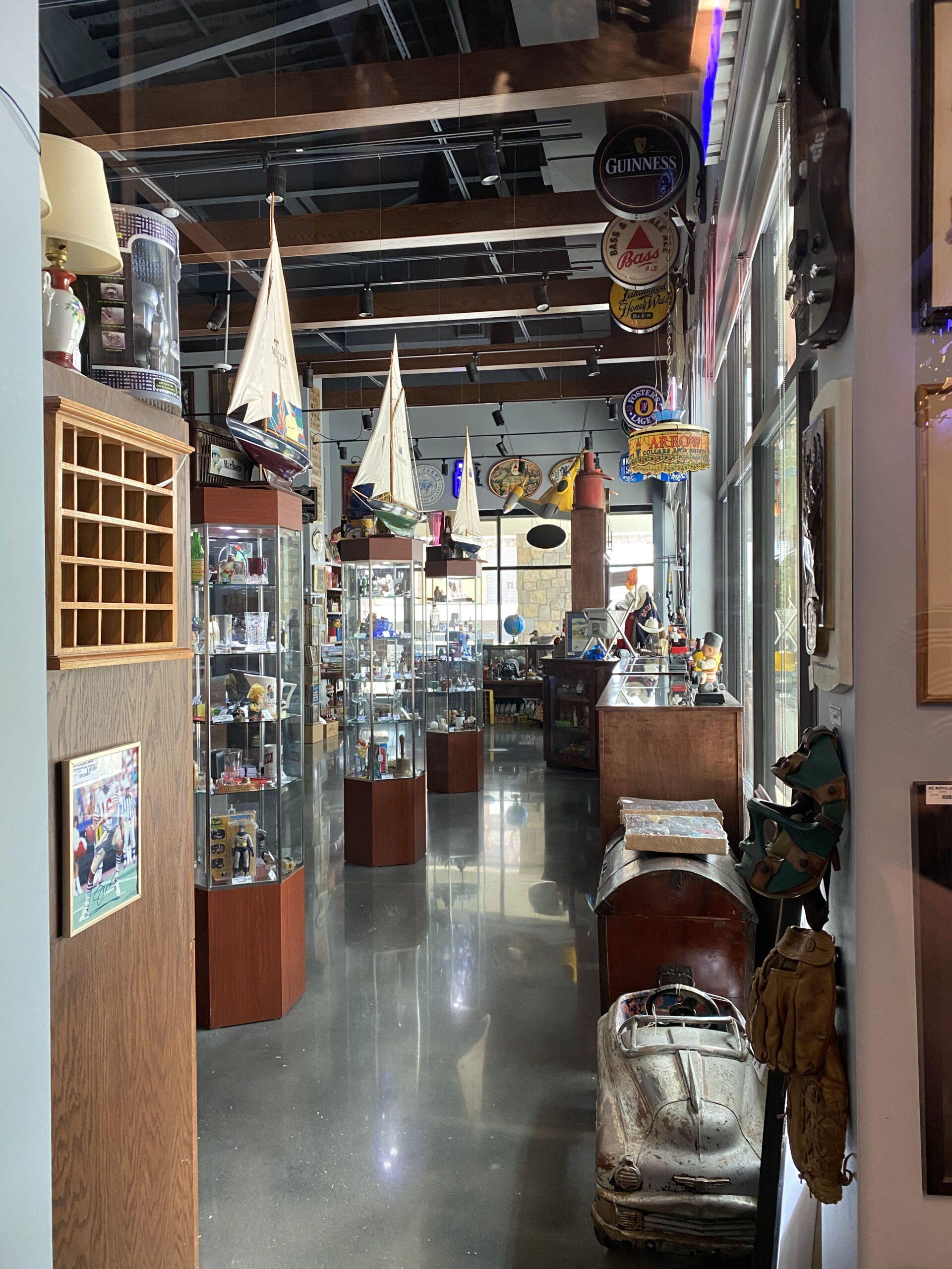 Interior of Gomer's Collectibles at Gomer's of Kansas City in Lenexa, Kansas