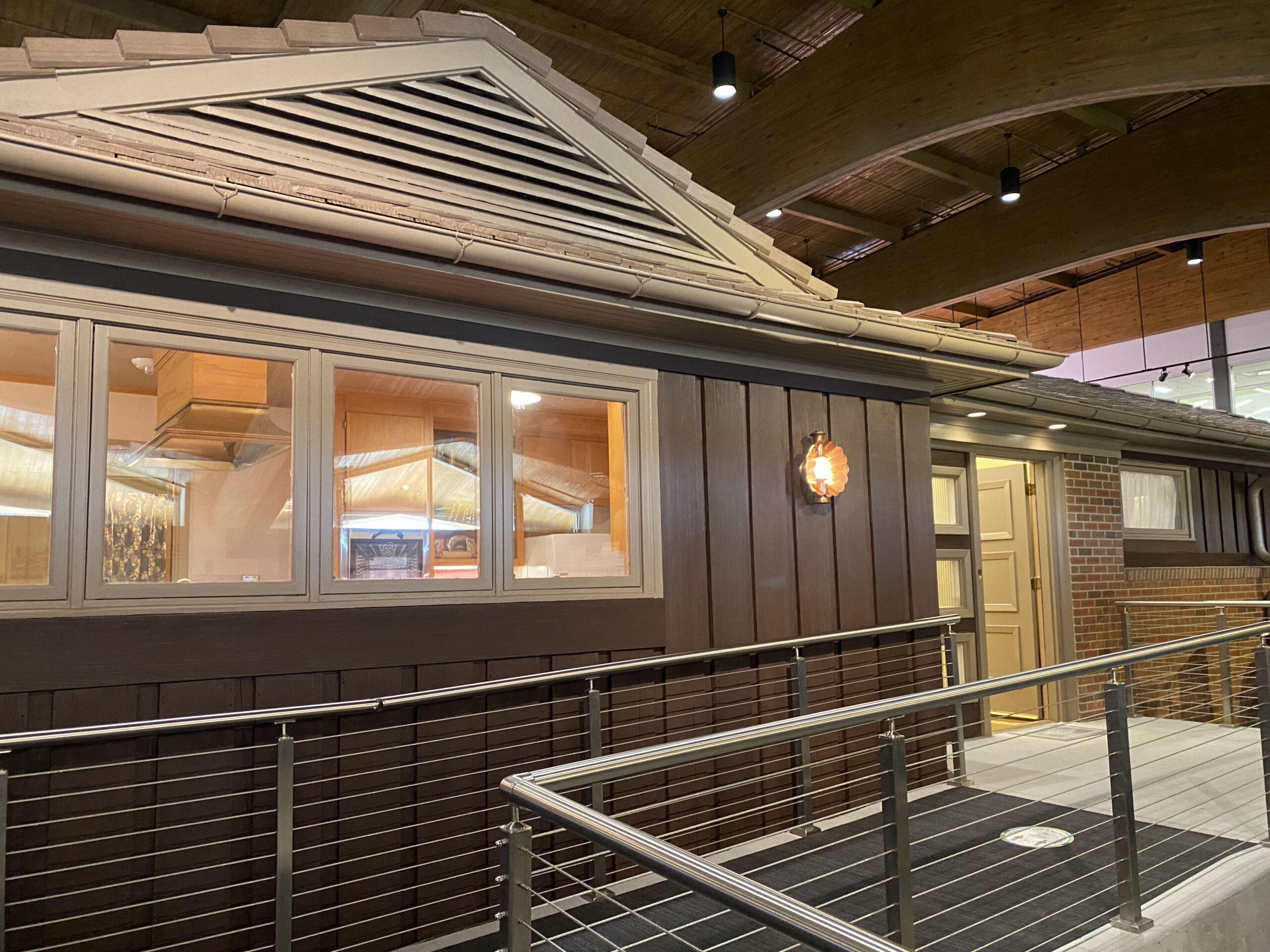Exterior of 1950s All-Electric House at the Johnson County Museum in Overland Park, Kansas