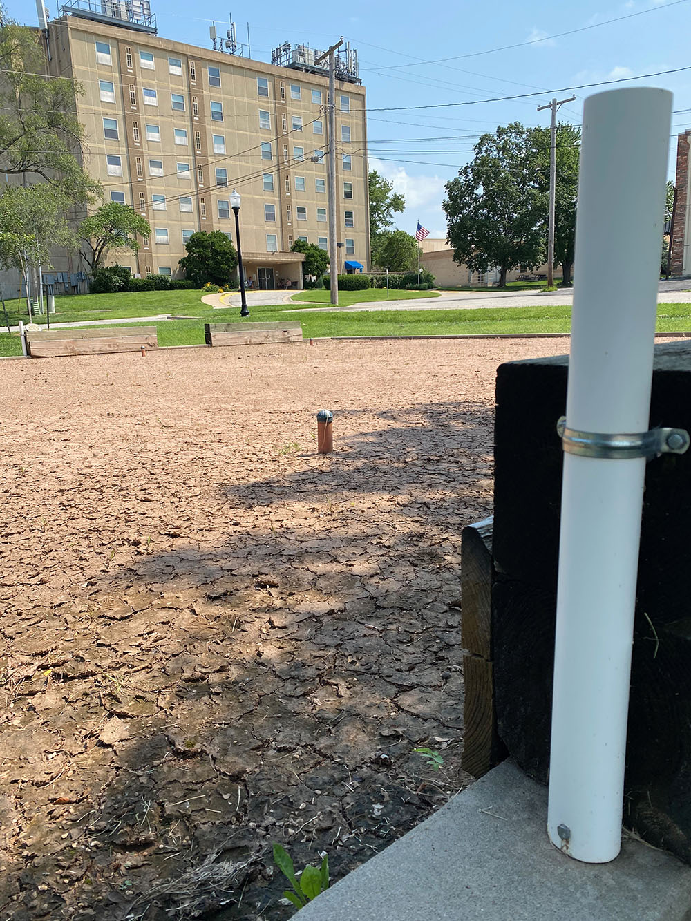 Rolle bolle court at Sister Cities Park in Shawnee, Kansas